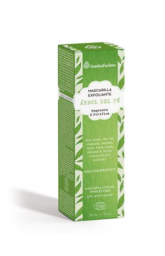 Mascarilla exfoliante Árbol del té